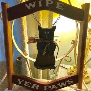 """Other - """"Wipe Yer Paws"""" Hanging Sign"""